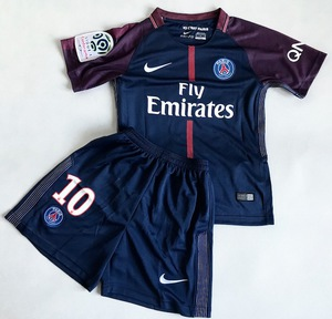 Dziecięcy zestaw piłkarski PSG home 17/18 NIKE (koszulka+spodenki) #10 NEYMAR JR.