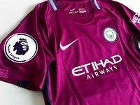 Dziecięcy zestaw piłkarski MANCHESTER CITY away 17/18 NIKE (koszulka+spodenki) #10 AGUERO