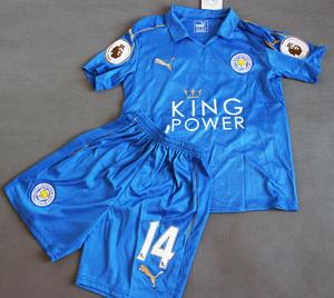 Dziecięcy zestaw piłkarski LEICESTER CITY F.C. PUMA Home 16/17 (koszulka+spodenki) #14 Kapustka
