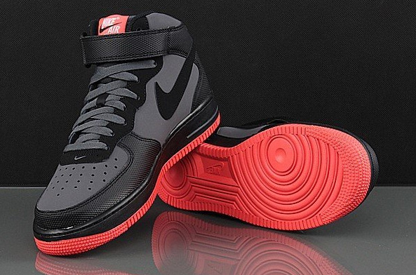 buty nike air force 1 mid red