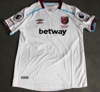 Dziecięcy zestaw piłkarski WEST HAM UNITED away 16/17 UMBRO (koszulka+spodenki) #27 PAYET