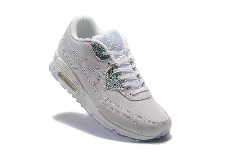 new concept 3e5dc a0fe2 Buty Damskie Nike Air Max 90 Prm 443817-104 Białe Hologram, NIKE AIR ...