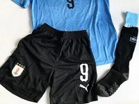 Dziecięcy zestaw piłkarski URUGWAJ Home PUMA WORLD CUP 2018 #9 SUAREZ