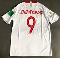 Koszulka piłkarska POLSKA Breathe Stadium Home 2018, #9 Lewandowski
