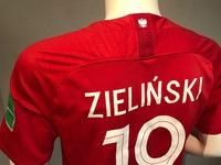 Koszulka piłkarska POLSKA Breathe Stadium Away 2018, #9 Lewandowski