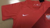Dziecięcy zestaw piłkarski POLSKA NIKE Away 2018 (koszulka+spodenki) #9 Lewandowski
