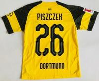 Dziecięcy zestaw piłkarski BORUSSIA DORTMUND home 18/19 PUMA (koszulka+spodenki+getry) #26 PISZCZEK
