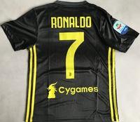 Dziecięcy zestaw piłkarski JUVENTUS TURYN ADIDAS 3rd 18/19 (koszulka+spodenki+getry) #7 Ronaldo