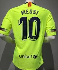 Koszulka piłkarska FC BARCELONA NIKE 18/19 Vapor Match Away, #10 MESSI