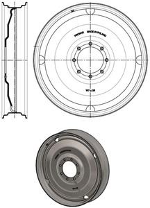 Koło tarczowe W8x44 8-otw fi-221 URSUS C-385 skręcane PRONAR