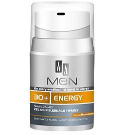 AA Men 30+ Energy, Nawilżający żel do pielęgnacji twarzy, 50 ml
