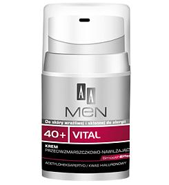 [W] AA Men 40+ Vital, Krem przeciwzmarszczkowo - nawilżający, 50 ml