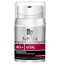 AA Men 40+ Vital, Koncentrat przeciwzmarszczkowy do twarzy, 50 ml