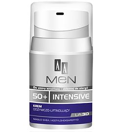 AA Men 50+ Intensive, Krem odbudowująco - liftingujący, 50 ml