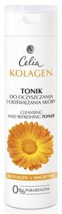 CELIA Tonik odświeżająco-oczyszczający KOLAGEN + NAGIETEK, 200 ml