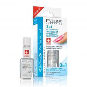 EVELINE Nail Therapy, 3 W 1 60-sekundowy wysuszacz, utwardzacz i nabłyszczacz, 12 ml