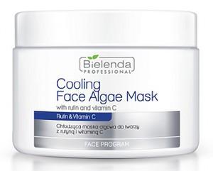 BIELENDA  Professional, Chłodząca maska algowa z rutyną i witaminą C, cera naczynkowa, rumień, 190g/500 ml
