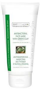 BIELENDA Professional, Antybakteryjna maska z glinką zieloną, cera mieszana, trądzikowa, 150g