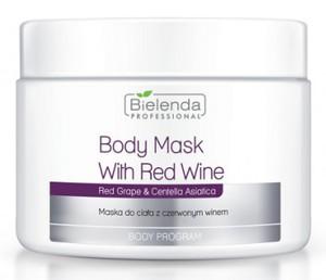 BIELENDA Professional, Maska do ciała z czerwonym winem, skóra zmęczona, zestresowana, 600g