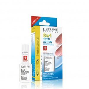 EVELINE Nail Therapy, Skoncentrowana Odżywka do paznokci TOTAL ACTION 8 w 1, 12 ml