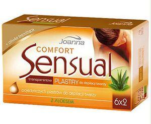 JOANNA Sensual, Comfort Przezroczyste plastry z aloesem do depilacji twarzy dla Pań 12 szt.