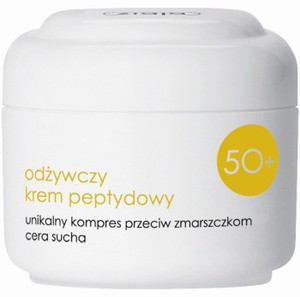 ZIAJA Kremy 50+, Tłusty, odżywczy krem peptydowy na noc, cera sucha 50 ml
