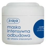 ZIAJA Intensywna Pielęgnacja Włosów, Odbudowująca maska z ceramidami do włosów zniszczonych, 200 ml