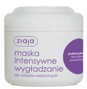 ZIAJA Intensywna Pielęgnacja Włosów, Wygładzająca maska z jedwabiem do włosów niesfornych, 200 ml