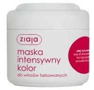 ZIAJA Intensywna Pielęgnacja Włosów, Maska do włosów farbowanych z olejem rycynowym, 200 ml