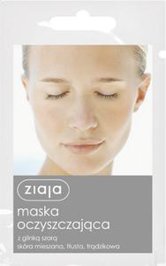 ZIAJA Maseczki, Oczyszczająca maska z glinką szarą do cery mieszanej, tłustej i trądzikowej, 7 ml