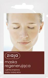 ZIAJA Maseczki, Regenerująca maska z glinką brązową do każdej cery, 7 ml