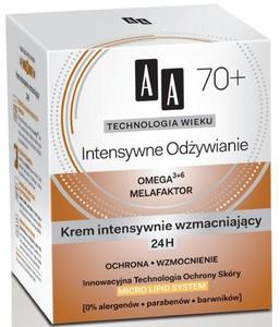AA Technologia Wieku 70+, Intensywne Odżywianie Krem intensywnie wzmacniający 24H, 50 ml
