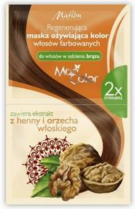 MARION Maxi Color, Regenerująca maska do włosów farbowanych w odcieniu brązu, 2 x 20ml