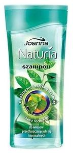 JOANNA Naturia Pokrzywa i Zielona Herbata, Szampon do włosów przetłuszczających się i normalnych, 200 ml