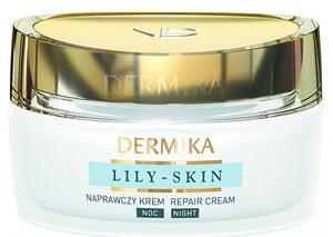 DERMIKA Lily Skin, Naprawczy krem na noc odmładzający wygląd skóry, 50 ml