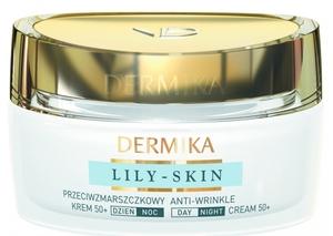 DERMIKA Lily Skin, Przeciwzmarszczkowy krem pobudzający śpiącą skórę 50+ dzień/noc, 50 ml
