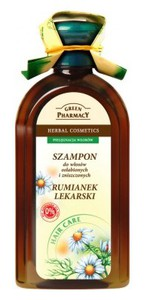 GREEN PHARMACY, Szampon z rumiankiem lekarskim, włosy słabe i zniszczone, 350 ml