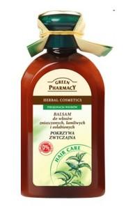 GREEN PHARMACY, Balsam z pokrzywą zwyczajną, włosy zniszczone, łamliwe i słabe, 300 ml