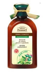 GREEN PHARMACY, Balsam z olejkiem łopianowym, włosy słabe, skłonne do wypadania, 300 ml