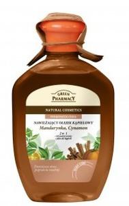 GREEN PHARMACY, Olejek do kąpieli i żel pod prysznic 2w1 Mandarynka i Cynamon, antystresowy, 250 ml