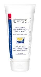BIELENDA Professional, Wzmacniajaca maseczka do twarzy z rutyną i witaminą C, cera naczyniowa, rumień, 175 ml