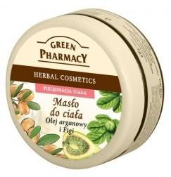GREEN PHARMACY, Ujędrniające masło do ciała Olej arganowy i Figi, 200 ml