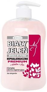 BIAŁY JELEŃ Premium, Naturalne mydło w płynie z głogiem i lnem, 300 ml