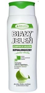 BIAŁY JELEŃ, Hipoalergiczny szampon do włosów z naturalnym chlorofilem, włosy tłuste, 300 ml
