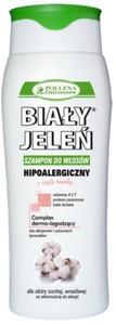 BIAŁY JELEŃ, Hipoalergiczny szampon do włosów z czystą bawełną, włosy suche, 300 ml