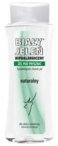BIAŁY JELEŃ, Hipoalergiczny żel pod prysznic naturalny, 300 ml