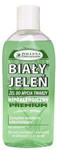 BIAŁY JELEŃ Premium, Hipoalergiczny żel do mycia twarzy z aloesem i ogórkiem, cera normalna i mieszana, 200 ml