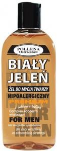 BIAŁY JELEŃ Premium, Hipoalergiczny żel do mycia twarzy dla mężczyzn z imbirem i biotyną, 200 ml