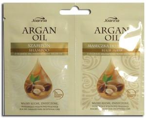 JOANNA Argan Oil, Szampon i maseczka z olejem arganowym, włosy suche i zniszczone, 1 szt