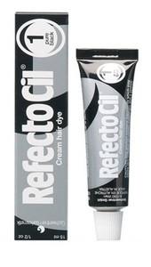 REFECTO CIL, Żelowa henna do brwi i rzęs, nr 1 Pure Black / głęboka czerń, 15 ml
